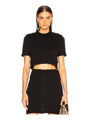 T by Alexander Wang Cropped Turtleneck Sweater