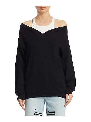 T by Alexander Wang double layer ribbed sweater