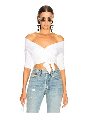 T by Alexander Wang Double Layer Wrap Top