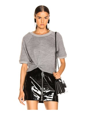 T by Alexander Wang Double Layered Short Sleeve Top