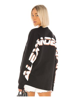 T by Alexander Wang dry french terry logo pullover
