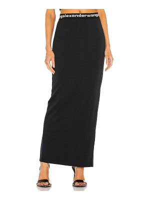 T by Alexander Wang fitted long skirt