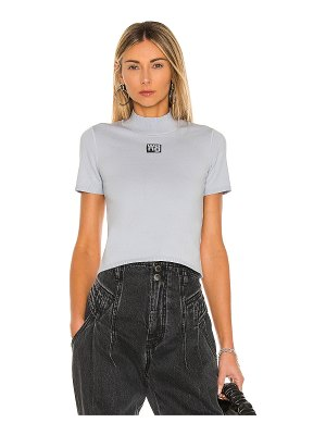 T by Alexander Wang foundation bodycon short sleeve mock neck top
