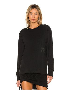 T by Alexander Wang foundation jersey long sleeve tee