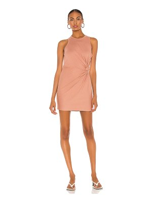 T by Alexander Wang heavy soft jersey fitted tank dress