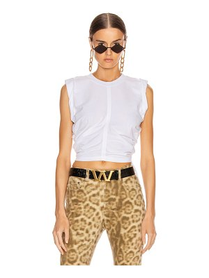 T by Alexander Wang high twist crop top with ties