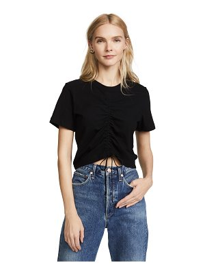 T by Alexander Wang high twist tee with gathered front