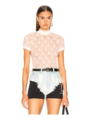 T by Alexander Wang Lace Short Sleeve Top