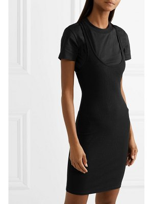 T by Alexander Wang layered ribbed stretch-jersey mini dress