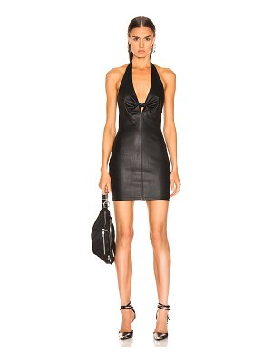 T by Alexander Wang Leather Halter Dress