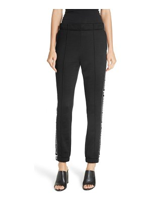 T by Alexander Wang logo french terry track pants