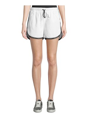 T by Alexander Wang Logo-Trim Track Shorts