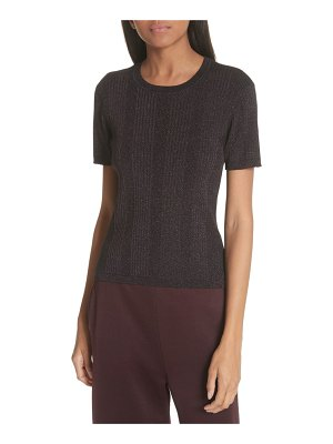 T by Alexander Wang metallic rib knit top