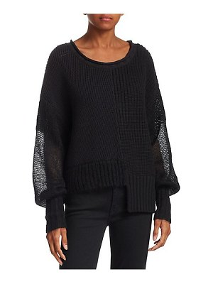 T by Alexander Wang mixed media ribbed sweater