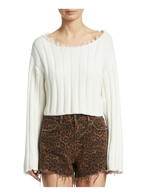 T by Alexander Wang raw edge cropped sweater