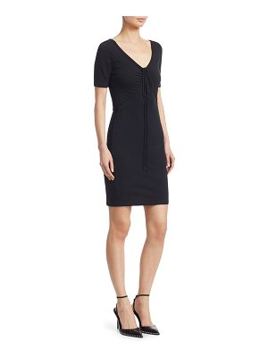 T by Alexander Wang ruched cotton bodycon dress