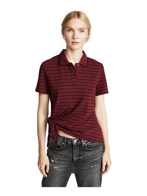 T by Alexander Wang side knot polo shirt