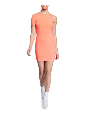 T by Alexander Wang Sleek Asymmetric Mini Dress