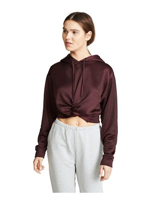 T by Alexander Wang sleek french terry twist front hoodie