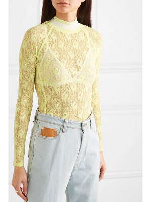 T by Alexander Wang stretch-lace thong bodysuit