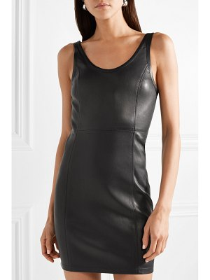 T by Alexander Wang stretch-leather mini dress