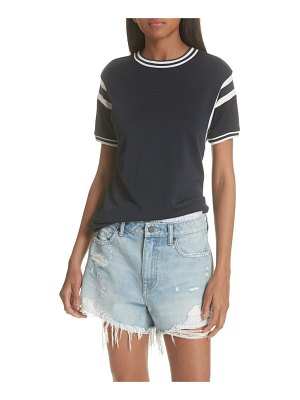 T by Alexander Wang stripe trim top