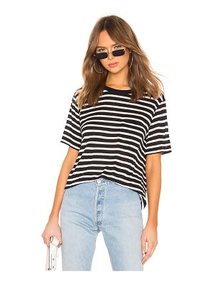 T by Alexander Wang Wide Striped Pocket Tee
