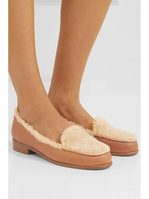Tabitha Simmons blakie shearling and leather loafers