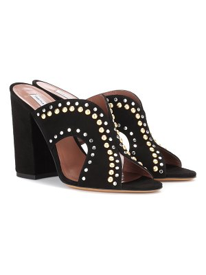 Tabitha Simmons celia embellished suede mules