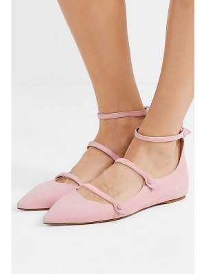 Tabitha Simmons equipment lynette suede point-toe flats