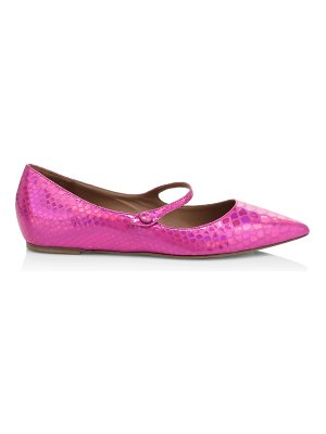 Tabitha Simmons hermione snake-embossed leather ballerina flats