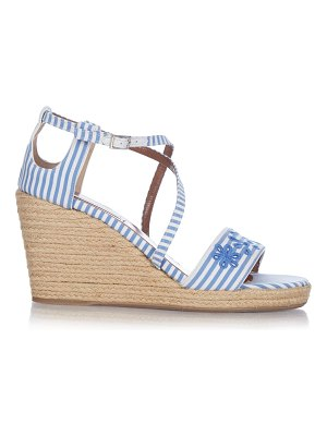 Tabitha Simmons Liu striped espadrille wedges