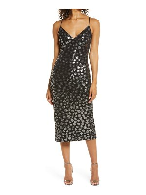 SHO by Tadashi Shoji animal sequin cocktail dress