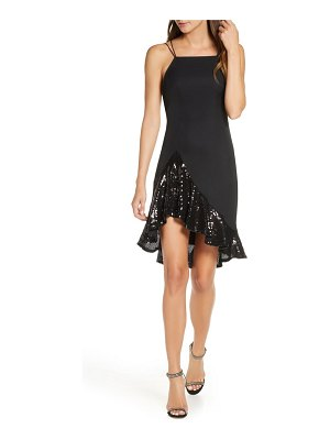 SHO by Tadashi Shoji asymmetrical sequin cocktail dress