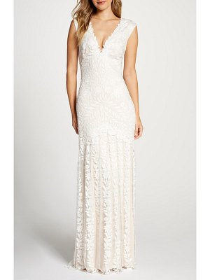 Tadashi Shoji lace mermaid wedding dress