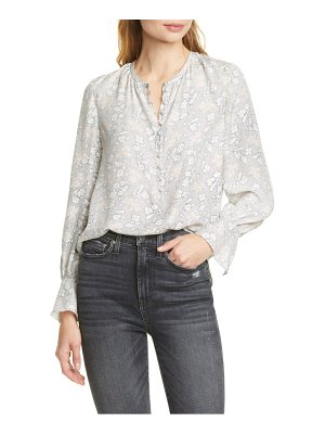 TAILORED BY REBECCA TAYLOR aime floral print silk top