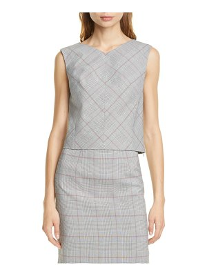 TAILORED BY REBECCA TAYLOR check plaid top