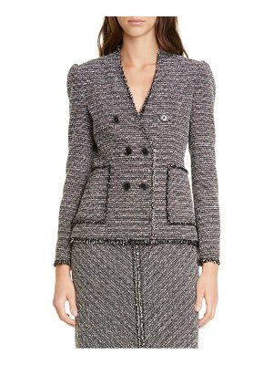 TAILORED BY REBECCA TAYLOR cotton blend tweed jacket