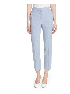 TAILORED BY REBECCA TAYLOR crop linen blend pants