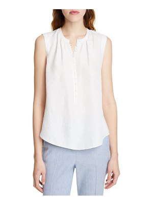 TAILORED BY REBECCA TAYLOR floral silk blend sleeveless top