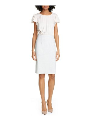 TAILORED BY REBECCA TAYLOR mock two-piece dress