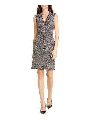 TAILORED BY REBECCA TAYLOR sleeveless cotton blend sheath dress