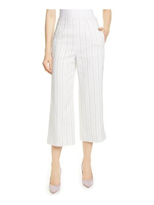 TAILORED BY REBECCA TAYLOR stripe crop suit pants