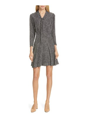 TAILORED BY REBECCA TAYLOR tie neck silk dress