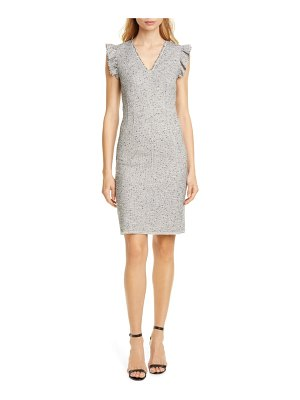 TAILORED BY REBECCA TAYLOR tweed sleeveless sheath dress