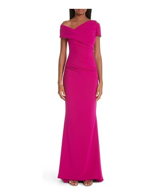 Talbot Runhof asymmetrical evening dress