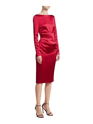 Talbot Runhof long-sleeve cocktail dress