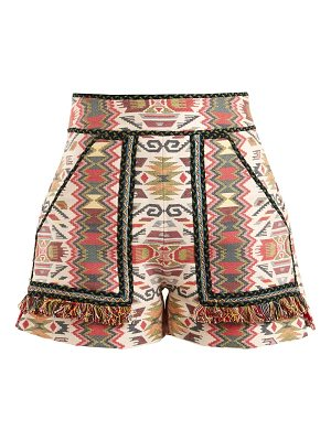 Talitha aztec jacquard cotton blend shorts