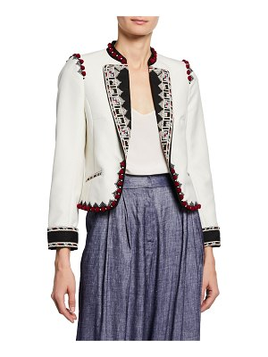 Talitha Collection Moroccan Embroidered Crop Blazer