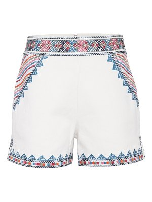 Talitha Embroidered cotton shorts
